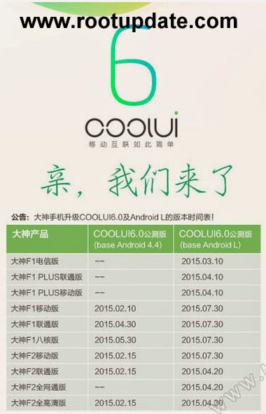 Android Lollipop 5.0 update For CoolPad F2